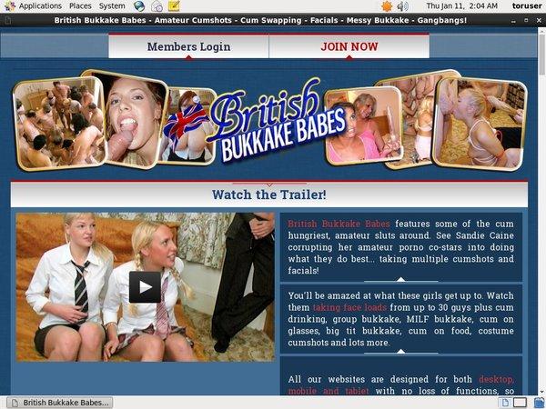 Login For British Bukkake Babes
