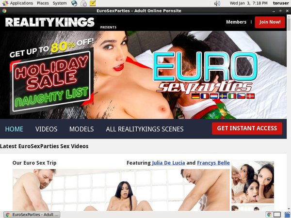 New Free Euro Sex Parties Accounts